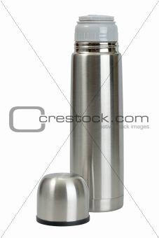 Single metallic thermos