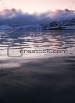 Photo of sunset North of the Polar Circle