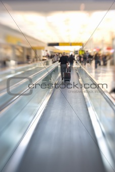 Airport - motion blurred business people