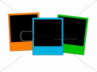 Three colored photos