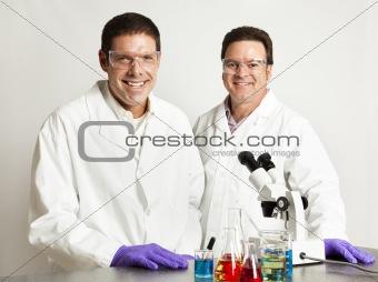 Confident Smiling Scientists