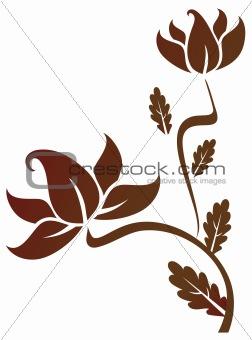a flower pattern