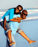 Joyful African Couple