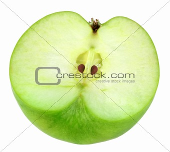 Single cross of green apple