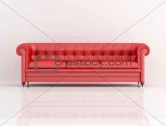 red leather classic sofa