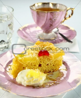 Slice Of Pineapple Upside Down Cake