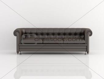 brown classic sofa