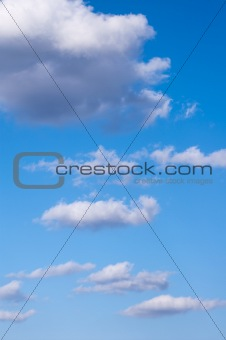 clouds on blue