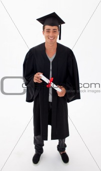Teen Guy Celebrating Graduation