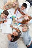 Group of Teenagers studying together