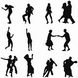 dance silhouette set
