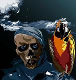 Bird and a skull