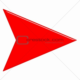 3D Glossy Red Arrow