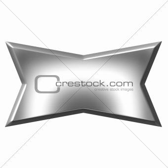 3D Silver Banner