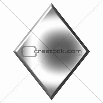 3D Silver Diamond