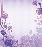 purple lotus flower pattern