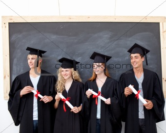 Group of people celebrating after Graduation