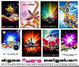 8 Quality Colorful Background for Discoteque Event Flyers with music design elements