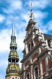 Riga old town architecture