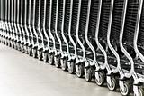 row of shopping carts