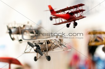 three toy planes