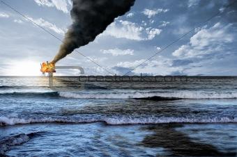 Oil platform explosion
