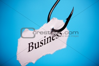 Business concept on hook