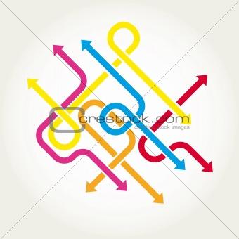 Arrows background vector illustration