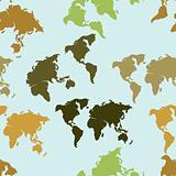 Seamless map pattern