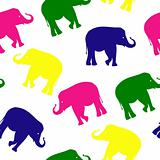 Seamless elephant pattern