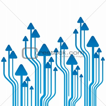 Arrows background vector illustration