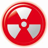 Radioactive sign symbol icon