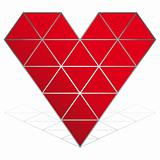 heart vector icon isolated