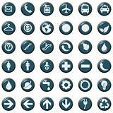 SET presentation icons symbol. vector