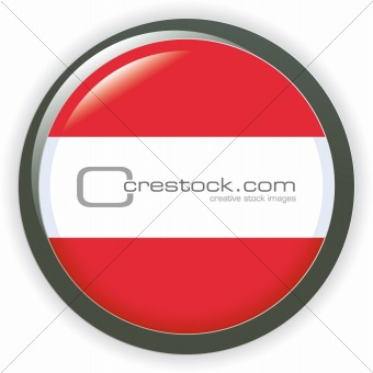 vector shiny web buttons with european country flags