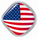 USA, shiny button flag