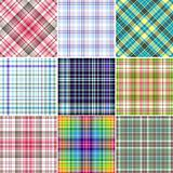 Set colorful repeating patterns (vector)