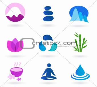 Image 2783417 Wellness Relaxation And Yoga Icon Set Vector From Crestock Stock Photos