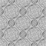 Vector Seamless Globe Pattern