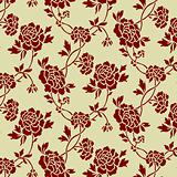 Vector Seamless Rose Pattern
