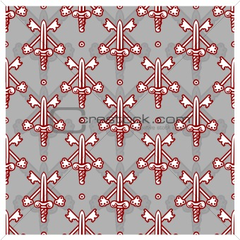 Vector Seamless Sword Pattern