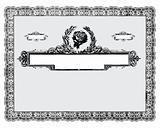 Vector Vintage Certificate Border
