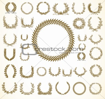 Vector Laural Wreaths