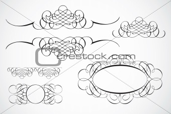 Vector Decorative Frame Ornaments