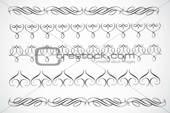Vector Decorative Border Ornaments