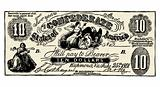 Vector Vintage Confederate Bank Note