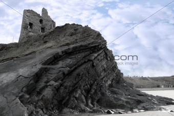old ruins of a castle on a high cliff