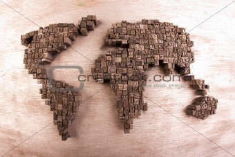 Image 2784453 world map made by metal font on wood from crestock world map made by metal font on wood gumiabroncs Gallery