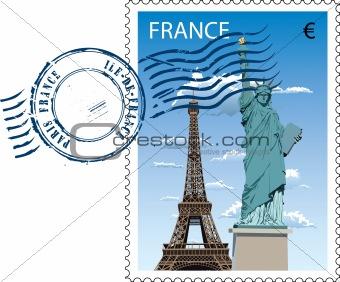 Postmark from France