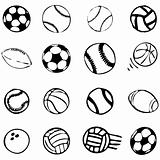 Set Ball sports icons
